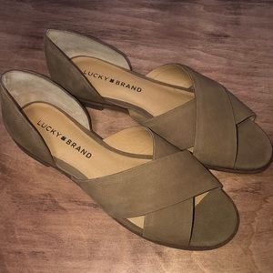 Lucky Brand   Brown Suede Sandal